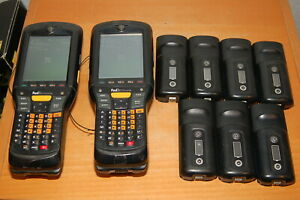 Lot Of 2 Motorola Mc959b Computer Barcode Scanner W 9 Batteries Tested