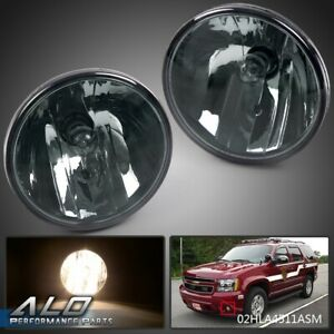 Smoked Fog Lights For 2007 2014 Chevy Tahoe Avalanche Suburban Gmc With Bulbs