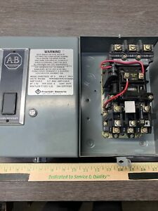 Allen Bradley size 0 509 a0d Enclosed Magnetic Motor Starter warranty