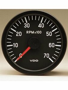 Vdo Vision Series Tachometer 0 7 000 3 3 8 Dia In Dash Black Face 333155