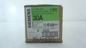 Siemens Circuit Breakers Q230 30amp In The Box 6 Quantity Sell By Box