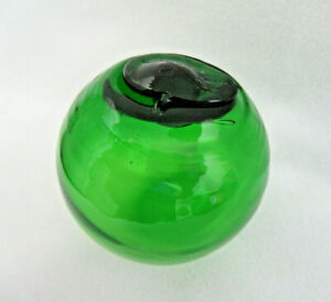 Vintage Japanese Glass Fishing Float Emerald Green 2 1 2
