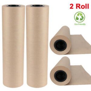17 7 X 2100 Brown Kraft Paper Roll Shipping Wrapping Cushioning Wall Art Craft