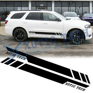 For Dodge Durango 2010 17 Black Vinyl Body Side Door Decal Stripes Cover Sticker