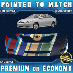 New Painted To Match Front Bumper Cover Direct Fit For 2007 2009 Toyota Camry Se