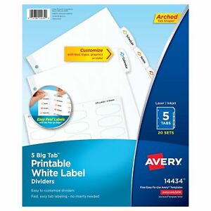 Avery Tab Divider ave 14434 ave14434