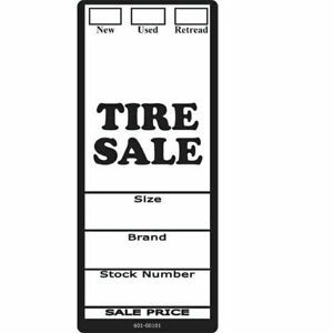 Tl101 6 X 2 1 2 New Used Retread Tire Labels 500 Roll