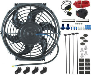 11 Inch Electric Radiator Cooling Fan 12 Volt Manual Toggle Switch Wiring Kit