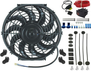 13 Inch Electric Engine Radiator Cooling Fan 12 Volt Manual Wiring Switch Kit
