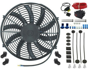 15 Inch Electric Auto Condenser Cooling Fan 12v Manual Rocker Wiring Switch Kit