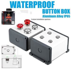 120 76aluminium Alloy Waterproof Dust proof Metal Push Button Switch Mountingbox