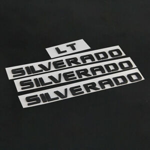 Silverado Lt Emblems Badges Nameplate Letter For Chevrolet Silverado 1500 2500hd