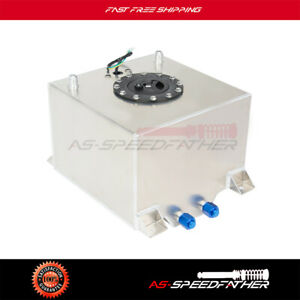 New 5 Gallon Silver Polish Aluminum Racing street Fuel Cell Tank