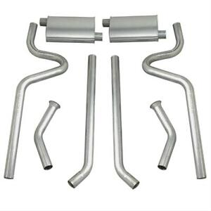 Summit Exhaust System Header back 2 25 Split Rear Exit Steel Ford Mustang