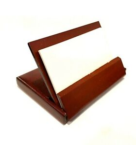 Rosewood Name Card Business Card Holder