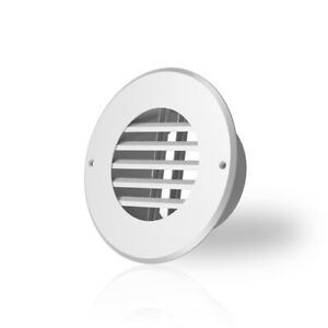Wall mount Duct Grille Vent For Heating Cooling Ventilation White Steel 4 inch