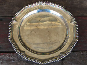 Fantastic Antique Ca 1799 George Iii Georgian Sterling Silver Charger Plate