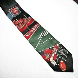 Coca Cola Football Necktie Coca-Cola