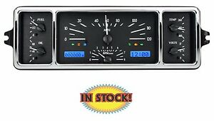 Dakota Digital Vhx 39c k b 1939 Chevy Car Vhx Gauge Kit Black blue