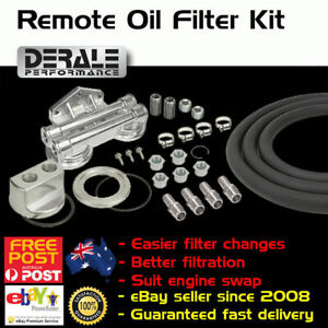New Twin Dual Remote Mount Oil Filter Fuel Adaptor Relocation Kit Bracket