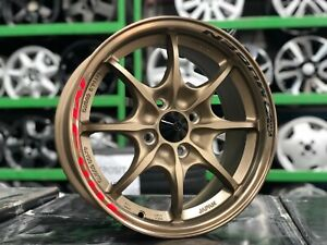 New 15 Inch Mugen Mf8 Design Bronze Rim Pcd 4x100 Set Of 4 Pcs Honda Fit Jazz