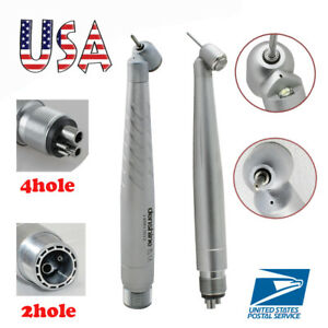 Dental 45 Degree Surgical High Speed Handpiece E generator Push Button 2 4 Holes