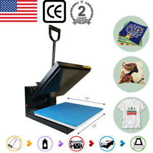 15 x15 Clamshell Heat Press Machine Sublimation Transfer For T shirt Diy Gifts