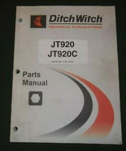 Ditch Witch Jt920 Jt920c Drilling Machine Parts Manual Book Catalog
