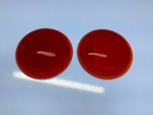 Pair Red Early Glass Lens Truck Tail Light Vintage Auto Stop Lamp Nos 2 1 16