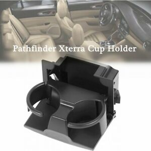 Abs Auto Car Cup Holder Insert For Pathfinder Xterra Frontier Rear Console Black