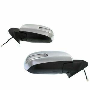 Mirror Set Fits 2012 2015 Toyota Tacoma Left Right With Signal Light Chrome