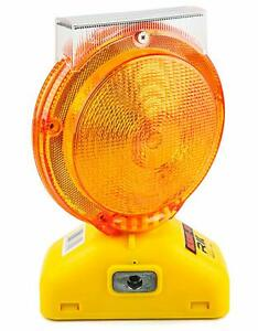 Rk Safety Blight st Solar Rechargeable Barricade Amber Led Warning Lights Traf
