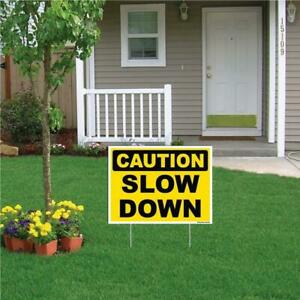 Caution Slow Down Sign Or Sticker 4