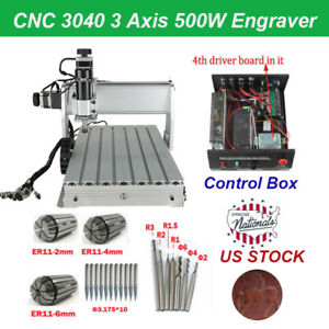 Cnc 3040 Router 3 axis Acrylic Engraving Milling Cutting Machine 500w Engraver