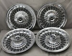 Set Of Four 1964 Buick Riviera Wire Hupcap Wheel Cover Spinner Gm 1002 19 63 65