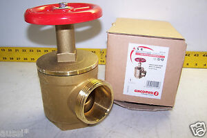New Giacomini Fire Hose Valve 2 1 2 Nst X 2 1 2 Npt Rough Brass A56y005