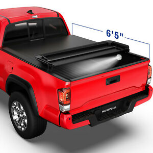 6 5ft 4 Fold Black Truck Bed Tonneau Cover For 2014 2019 Toyota Tundra