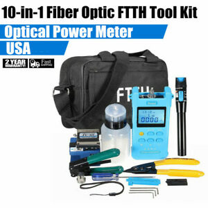 Ingaas Detector Auto Switch Fiber Optic Tool Kit Support Fc sc st Interface