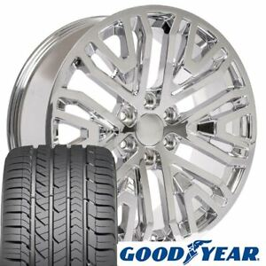 Cp 22 Wheels Goodyear Tires Fit Chevy Gm Cadillac High Country Chrome