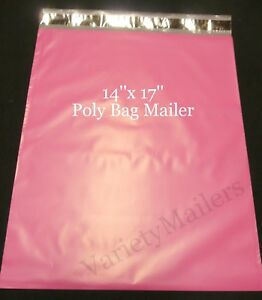 17 Large Pink Poly Bag Mailers 14x17 Self sealing Shipping Envelope Bags