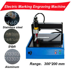 Electric Marking Engraving Machine 300x200mm For Metal Aluminum Sign Portable