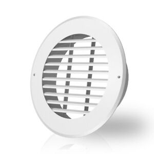 Wall mount Duct Grille Vent For Heating Cooling Ventilation White Steel 8 inch