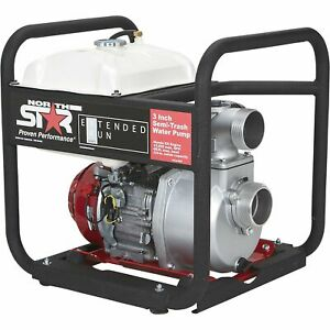Northstar Extended Run Semi trash Water Pump 3in 109171