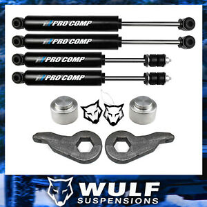 Wulf 3 Front 2 Rear Leveling Lift Kit Pro Comp Shock For 03 10 Hummer H2 4x4