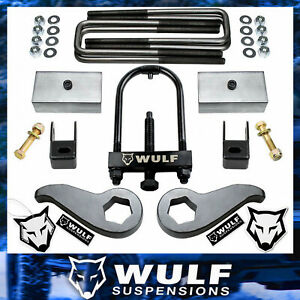 Wulf 3 Front 2 Rear Leveling Lift Kit For 11 19 Chevy Silverado Gmc 2500hd