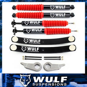 Wulf 3 Front 2 Rear Leveling Lift Kit W Add a leaf For 98 11 Ford Ranger 4x4