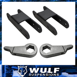 Wulf 3 Front 2 Rear Leveling Lift Kit W Shackles For 95 01 Ford Explorer