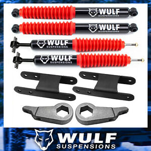 Wulf 3 Front 2 Rear Leveling Lift Kit W Shocks For 01 05 Ford Explorer