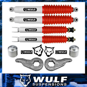 Wulf 3 Front 3 Rear Lift Kit W Shocks For 00 06 Chevy Tahoe Suburban Gmc Yukon