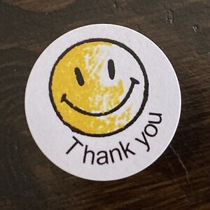 515 Happy Face Thank You Labels Stickers